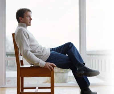 Sitting Man Relaxing