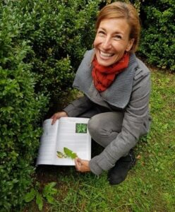 Nicole With The Book In Her Garden