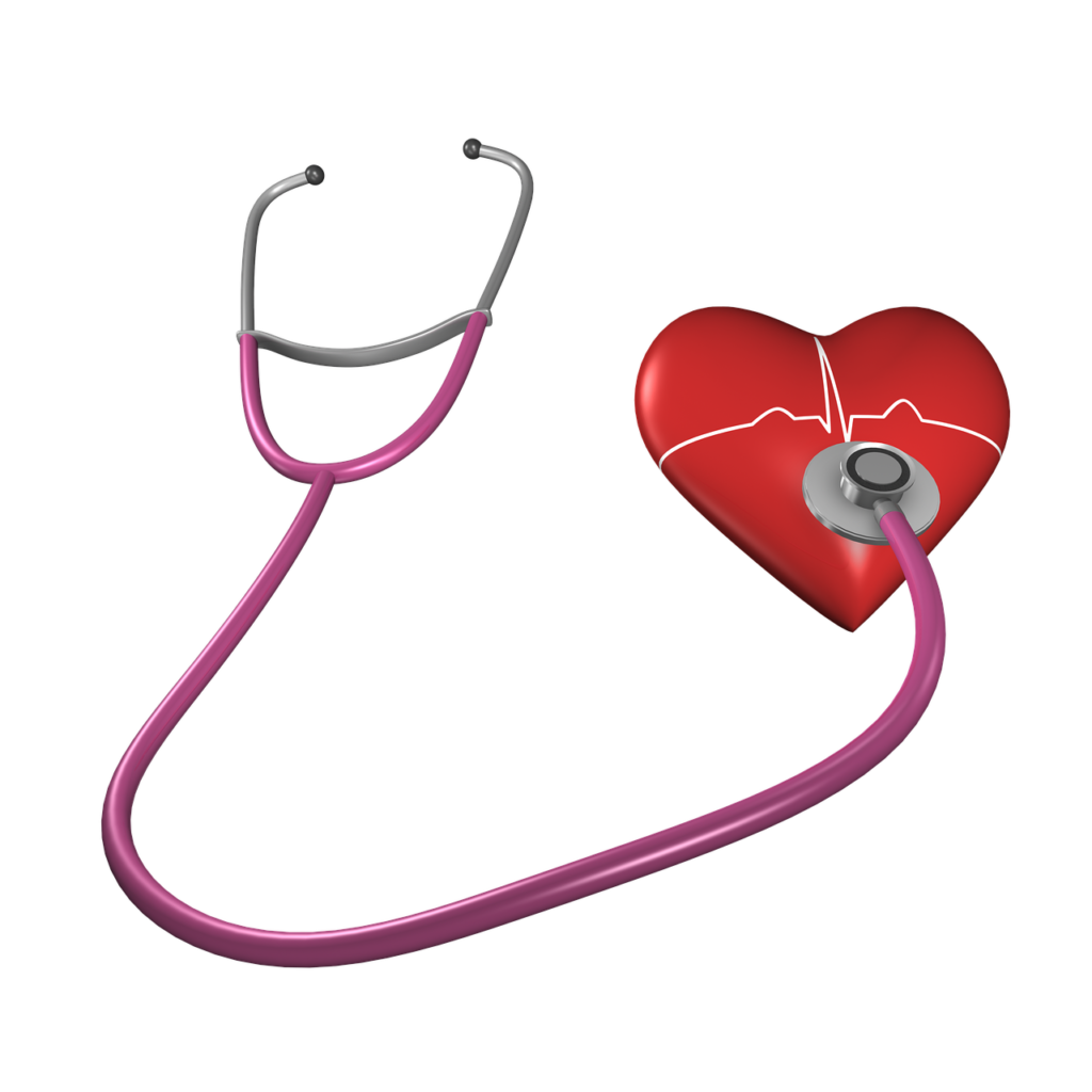 stethoscope and heart to illustrate cholesterol health