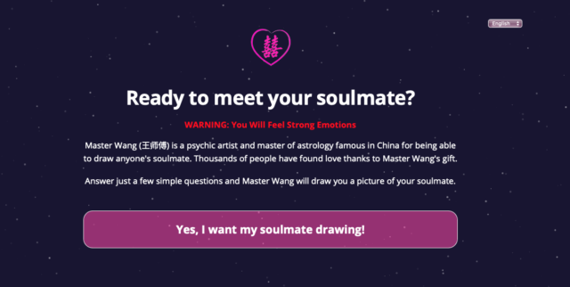 Master Wangs Soulmate Drawings Button To Questions