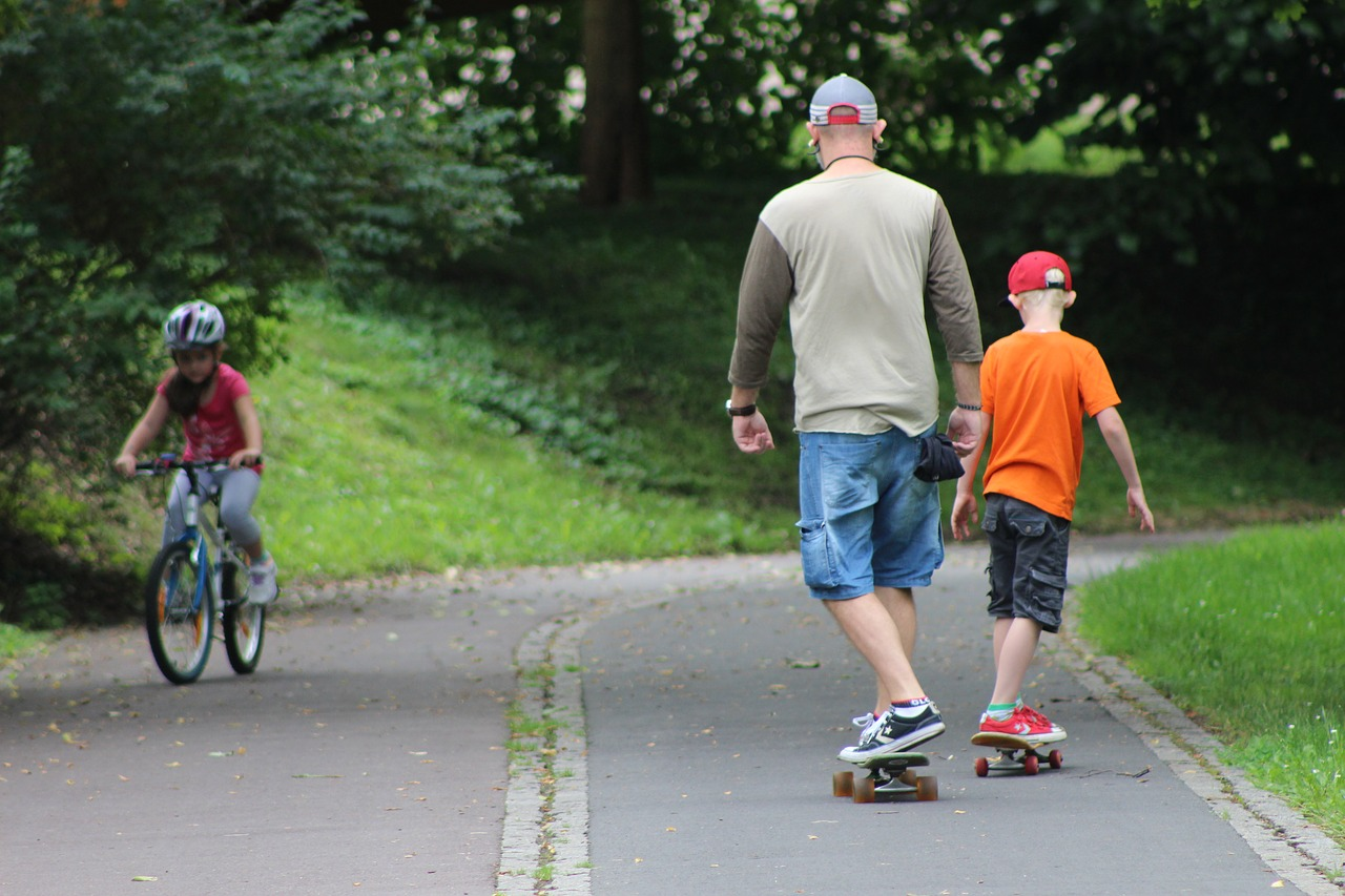 Father And Son Physical Activity